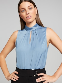Hayley Pleat Neck Top