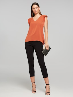 Carrie Core V Neck Top