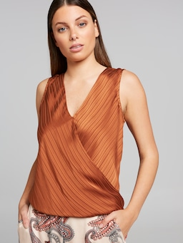 Selina Satin Wrap Top