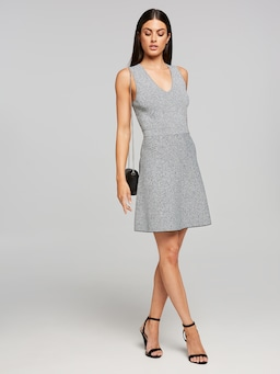 Emmy V Neck Fleck Milano Dress
