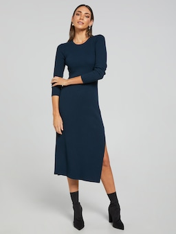 Audrey Milano Ribbed Dress