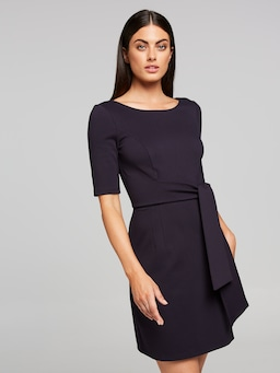Matilda Tie Waist Ponte Dress