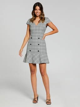 Cecille Check Flip Dress