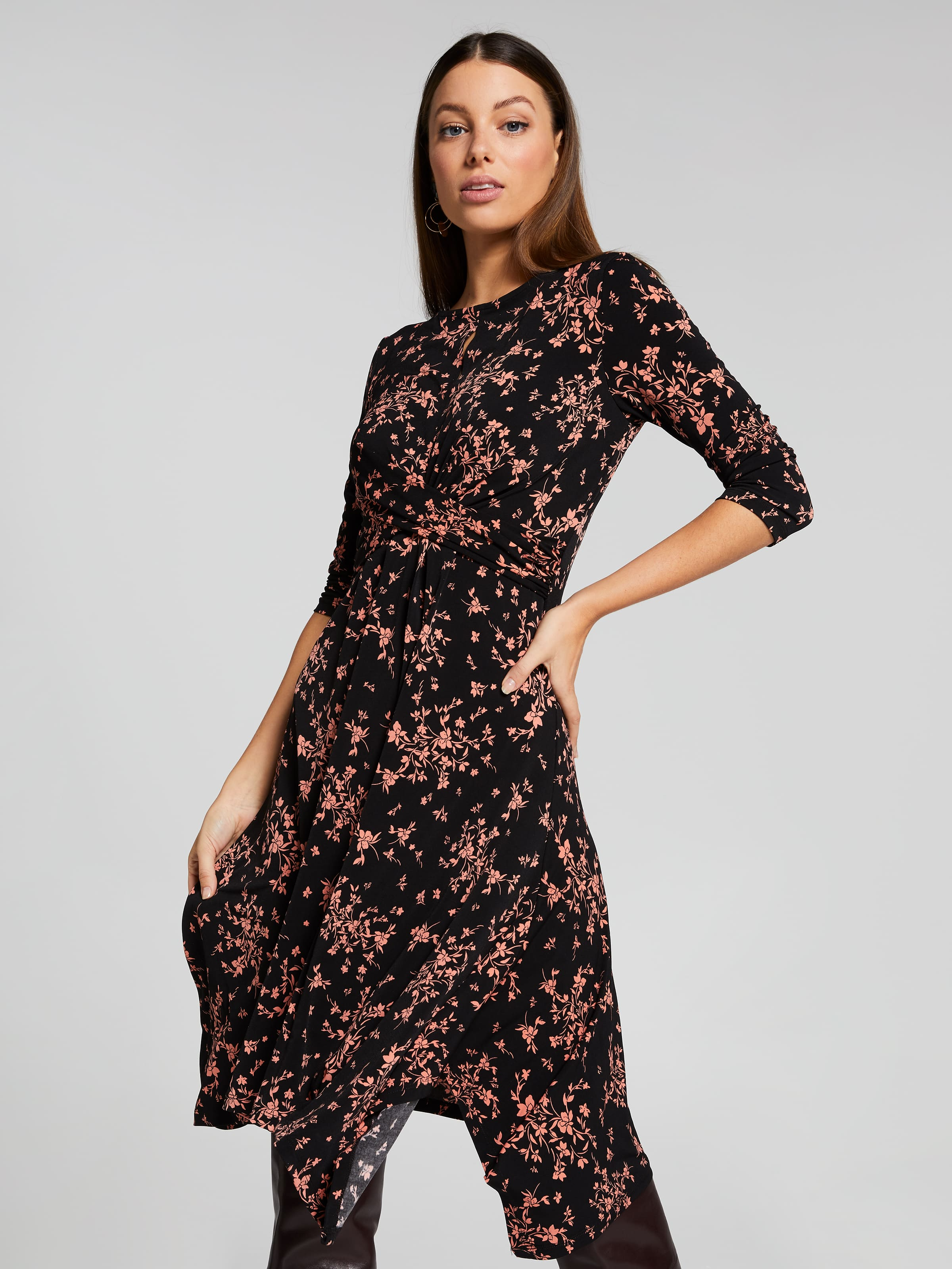 Image of Portmans Australia Portmans Ayla Foral Twist Waist Dress