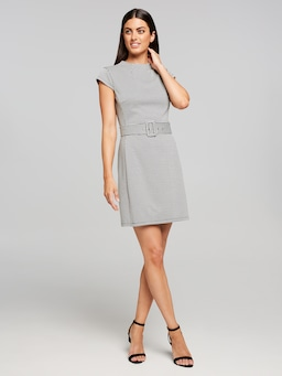 Washington Belted Ponte Dress