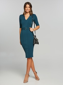 Eliza V Neck Milano Dress