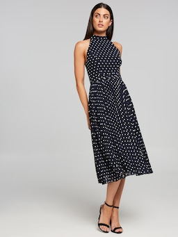 All About Spots Halter Midi