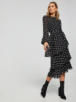 Pia Layered Midi Dress