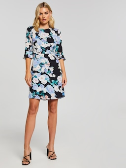 Anabelle Flute Sleeve Dress