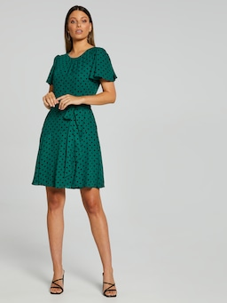 Gabby Gathered Sleeve Dress