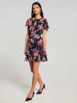 Fi Flutter Sleeve Dress