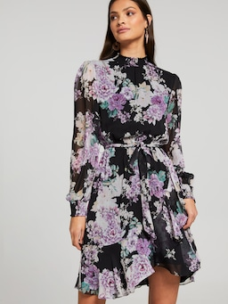 Angela High Neck Layered Dress