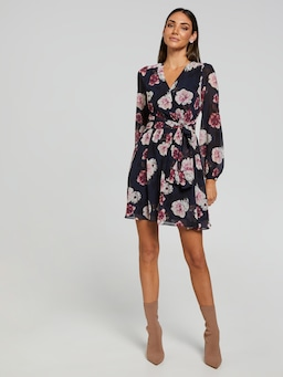 Jen Tie Front Short Dress