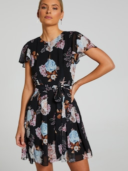 Mariana Flutter Sleeve Dress