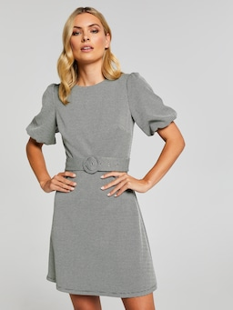 Miley Puff Sleeve Ponte Dress