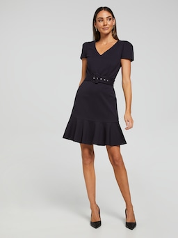 Viv Ponte Belted Dress