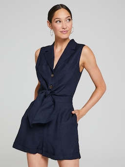 Georgina Linen Playsuit