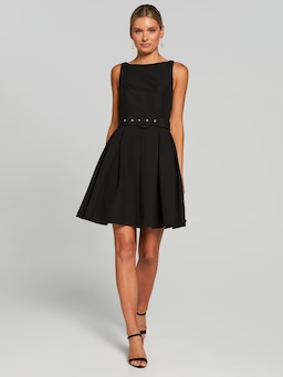 Virginia Belted Fit & Flare Dress