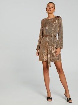 Kara Long Sleeve Sequin Dress
