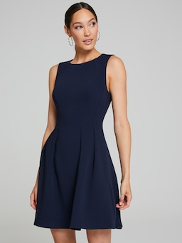 Natalie Textured Fit & Flare Dress