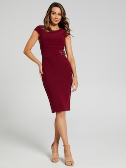 Rosie Side Belt Pencil Dress