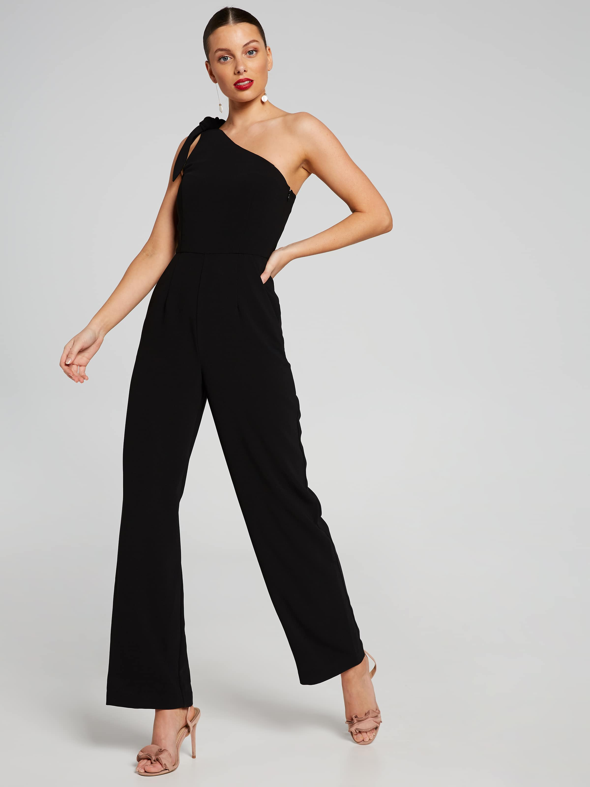 72cf1a5c7a14 Image for One Shoulder Bow Jumpsuit from Portmans Online ...