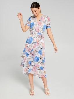 Leona Layered Midi Dress