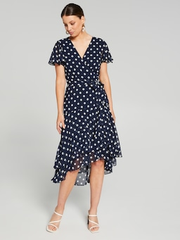 Julia Wrap Midi Dress