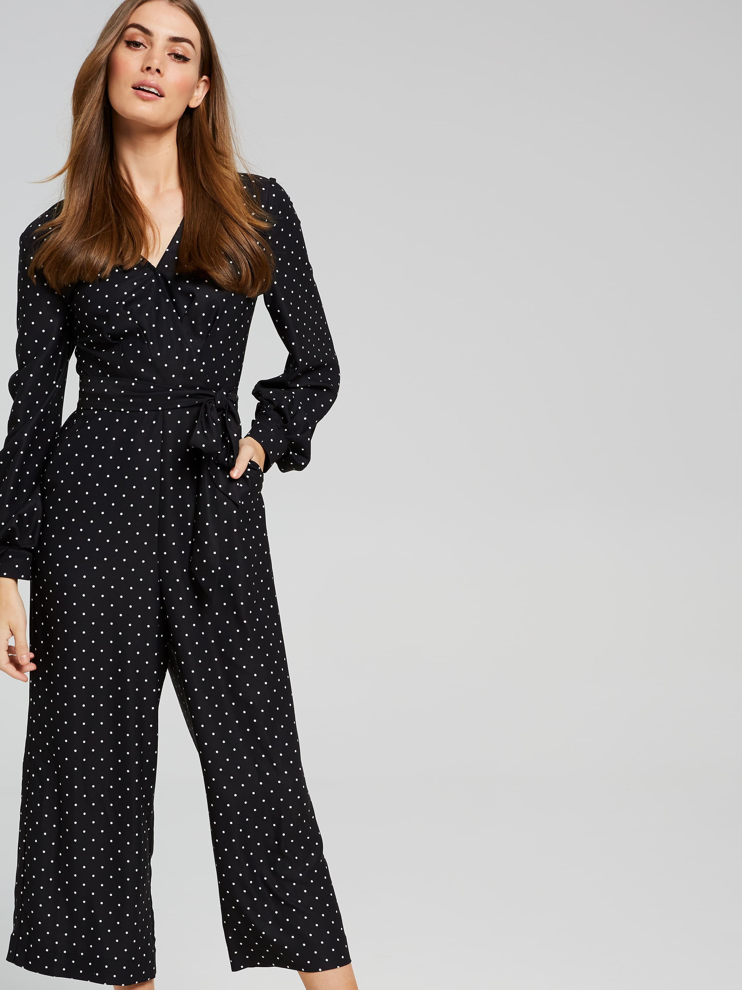 a57915c3693 ... Image for Pia Puff Sleeve Spot Jumpsuit from Portmans Online