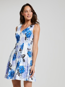 Bold Bloom Fit & Flare Dress