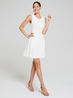 Bethany Broderie Fit & Flare Dress