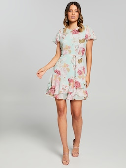 Isabel Frill Sleeve Soft Dress