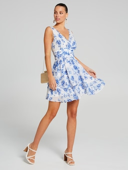 Ditsy Blues Ruffle Soft Dress