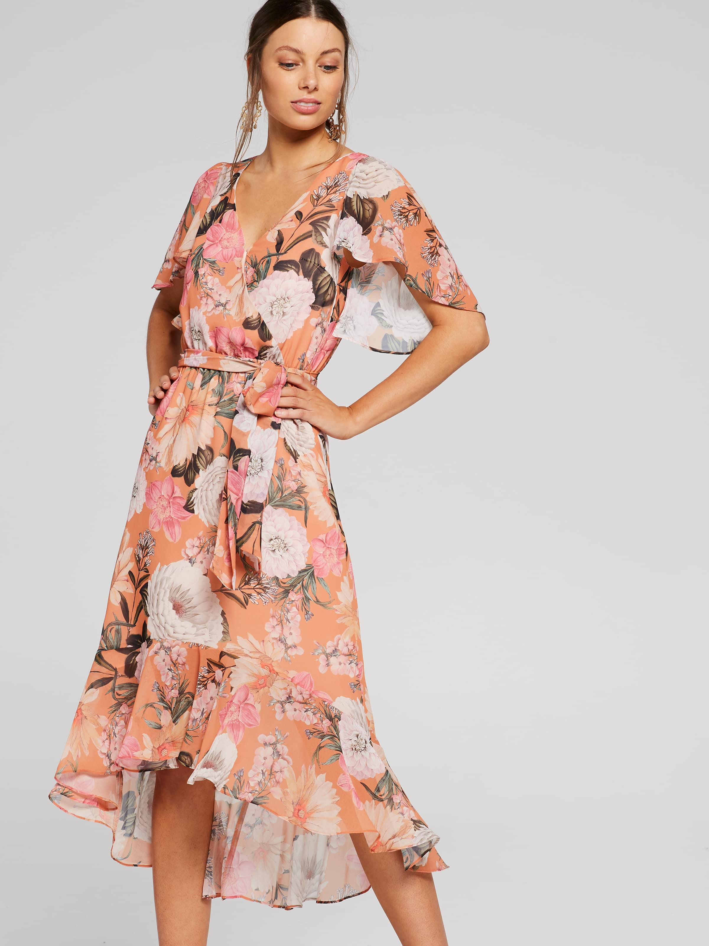 4fb542779d17 Image for Resort Floral Wrap Dress from Portmans ...