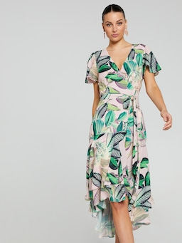 Harper Tropical Wrap Dress