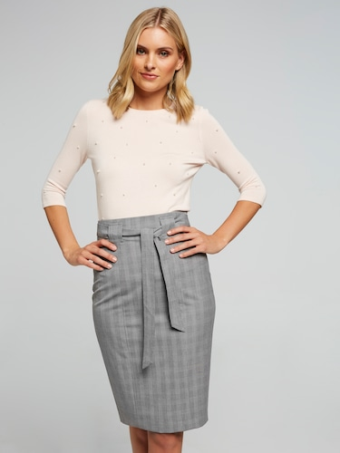 Prince Of Wales Suit Skirt