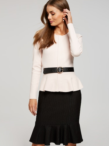 Fluted Pencil Skirt