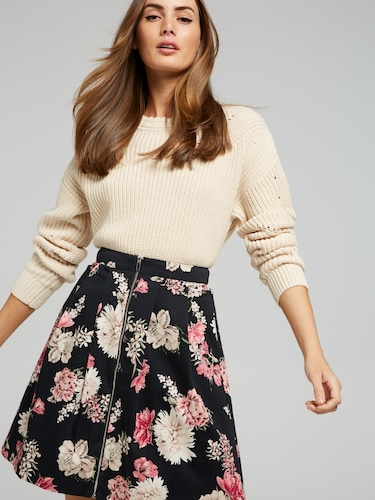 Business Fit And Flare Skirt
