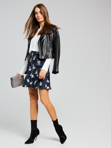 Ruby Floral Sateen Skirt