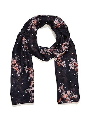 Spotted Blushing Floral Scarf