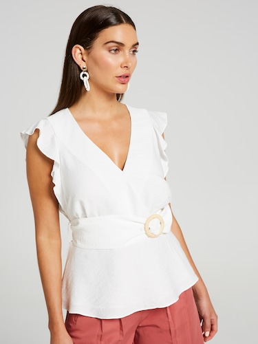 Antonia Raffia Buckle Wrap