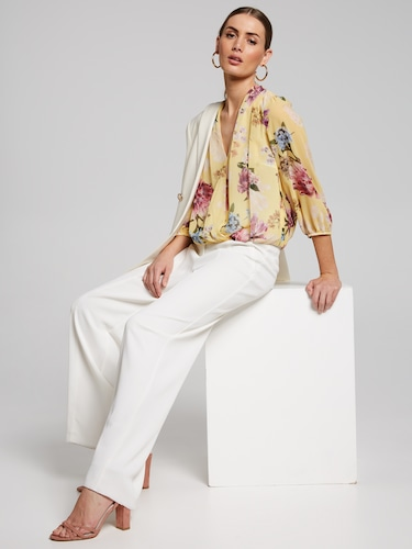 Dreamy Gathered Wrap Top