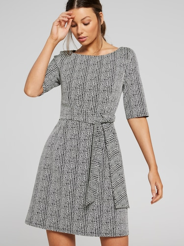 254fe10c47f37 Midtown Check Ponte Dress Midtown Check Ponte Dress
