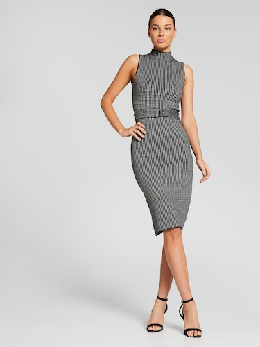 Check Milano High Neck Dress
