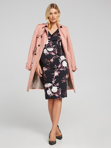 Winter Rose Sateen Dress