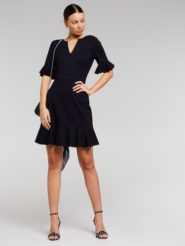 Flute Sleeve City Dress