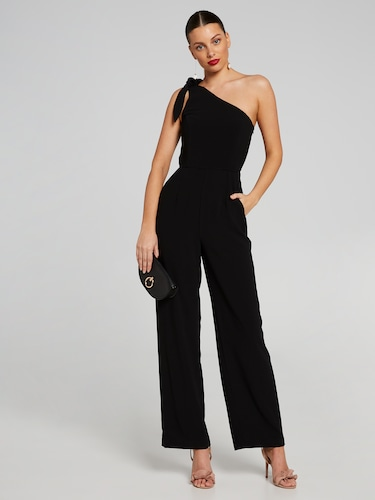 One Shoulder Bow Jumpsuit