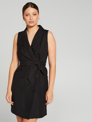 Frankie Linen Blend Blazer Dress