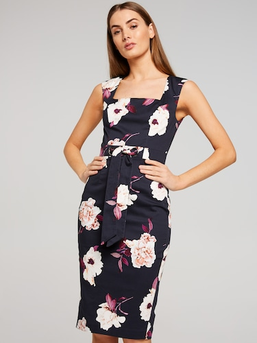 Royal Blooms Pencil Dress