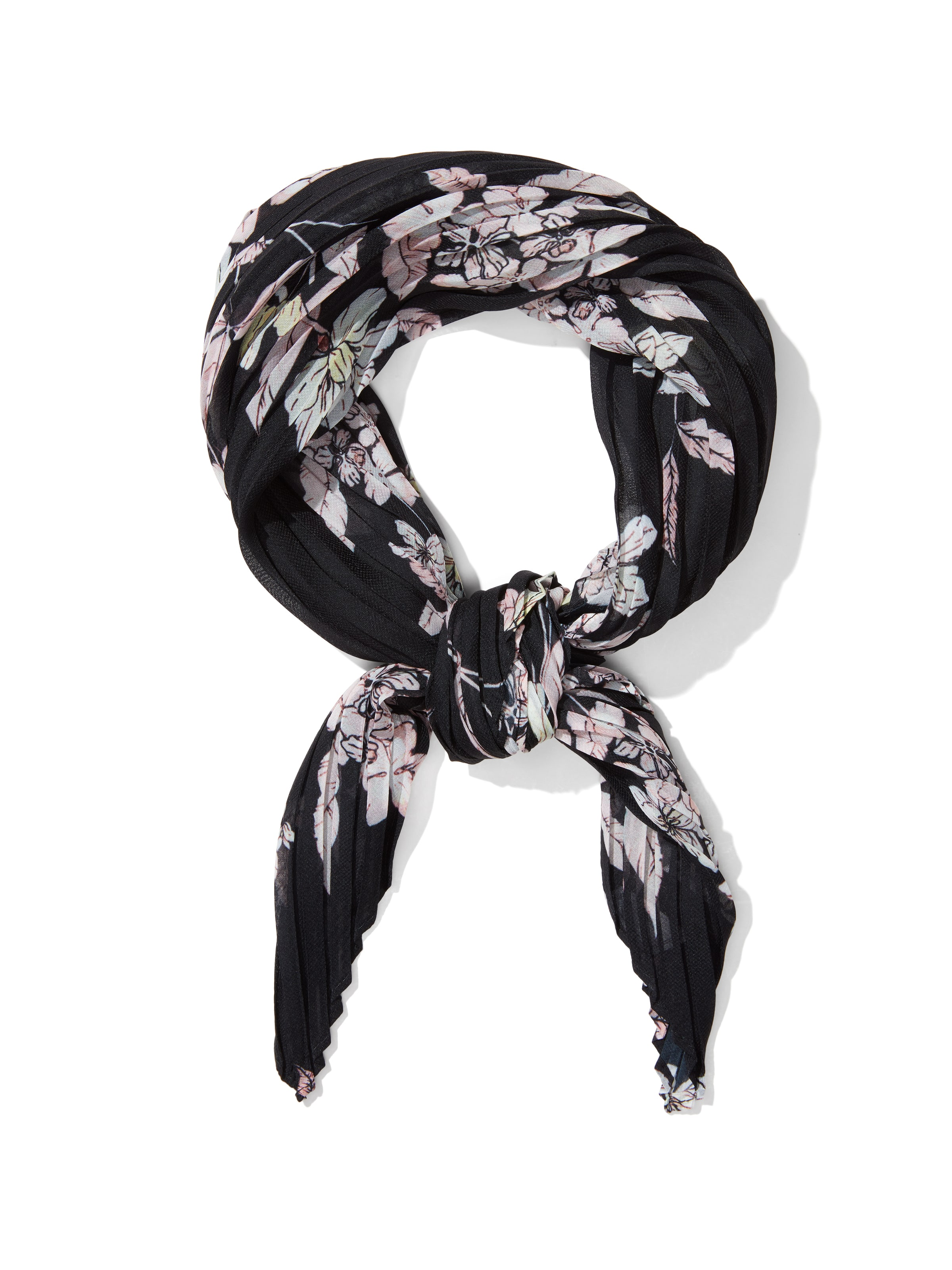 Winter Floral Pleat Neckerchief